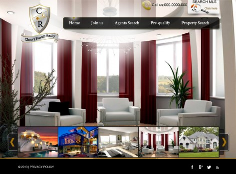 web design cherry russell realty