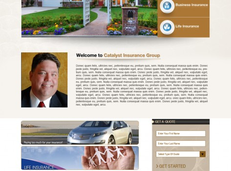 Website Design Catalyst Insurance 2