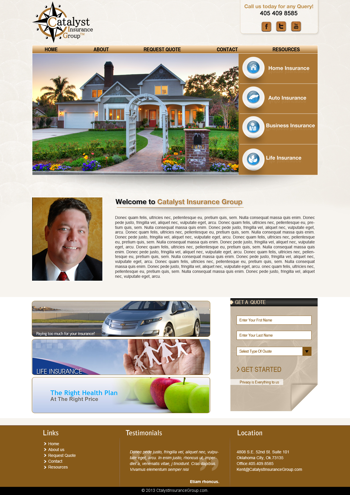 Website Design Catalyst Insurance